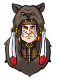 Indian Apache Mascot. Eps 10  illustration Design Royalty Free Stock Photography