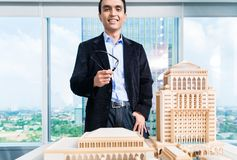 Indian architect with architecture model Stock Image