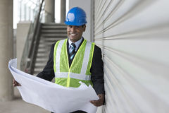 Indian Architect or industrial engineer at work. Stock Images