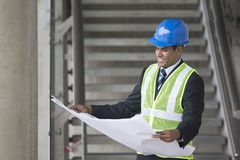 Indian Architect or industrial engineer at work. Royalty Free Stock Photos