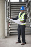 Indian Architect or industrial engineer at work. Royalty Free Stock Images