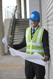 Indian Architect or industrial engineer at work. Royalty Free Stock Photo