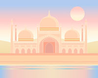 Indian architecture. An illustration of ornate indian architecture under an exotic sky Royalty Free Stock Image