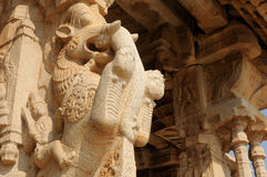 Indian architecture in Hampi Stock Image