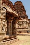 Indian architecture in Hampi Royalty Free Stock Photos