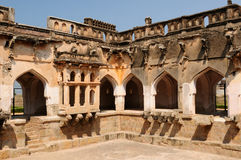 Indian architecture in Hampi Stock Photo