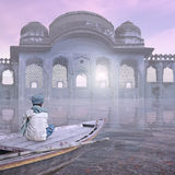 Indian architecture. Indian architecture in the mist during the morning Royalty Free Stock Image