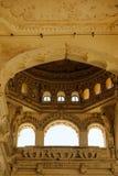 Indian architecture Thirumalai Nayakkar Mahal palace in Madurai royalty free stock image