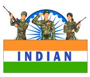 Indian army showing victory of India Stock Photos