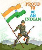 Indian army showing victory of India Stock Images
