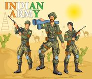 Indian army showing victory of India. In vector Royalty Free Stock Image