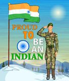 Indian army showing victory of India Royalty Free Stock Images