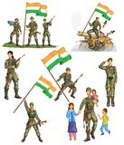 Indian army showing victory of India. In vector Royalty Free Stock Photo