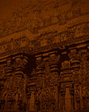 Indian Art Background. Sculpture art on temples, wall, palaces and caves are very famous in India Royalty Free Stock Photography