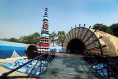 Indian Art During Durga Festival Royalty Free Stock Photo