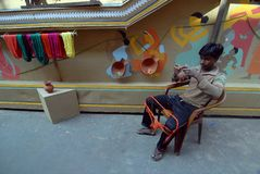 Indian Art During Durga Festival Stock Photos