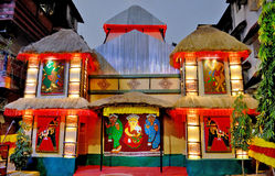 Indian Art During Durga Festival Royalty Free Stock Images
