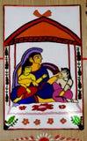 Indian Art During Durga Festival Stock Image