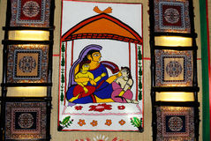 Indian Art During Durga Festival Royalty Free Stock Photography