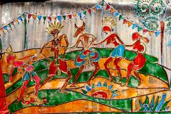 Indian Art During Durga Festival Royalty Free Stock Image