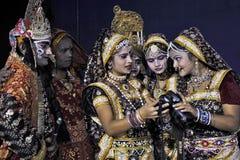 Indian Art Fair Stock Photo