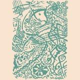 Indian art stylization Royalty Free Stock Image