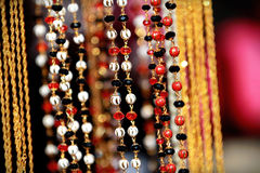 Indian asian bridal beaded jewellery at culture festival market Stock Photo