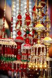Indian asian bridal kalire tinkling bells at culture festival market Royalty Free Stock Photos