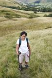 Indian woman hiking Stock Images