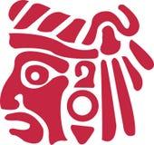 Indian asteca ilustração stock