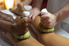 Indian Ayurvedic massage royalty free stock photos