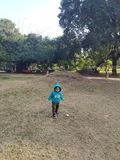 Indian baby playing outdoor