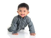 Indian baby. Portrait of a cheerful indian baby Royalty Free Stock Image