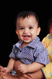 Indian Baby Portrait. Happy Baby Portrait , isolated against black background Stock Photo