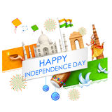 Indian background with historical monument Royalty Free Stock Photography