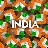 Indian background with tricolor kites  for 26th January Happy Republic Day of India. Illustration of Indian background with tricolor kites  for 26th January Royalty Free Stock Photos