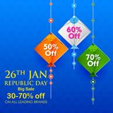 Indian background with tricolor kites for 26th January Happy Republic Day of India Sale and Promotion Advertisement. Illustration of Indian background with Stock Images