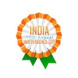 Indian badge design. Vector indian independence day badge design Vector Illustration