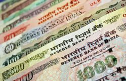 Indian Bank note (currency) arrangement Royalty Free Stock Images