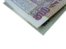 Indian Bank Note-INR 500 folded Stock Photos