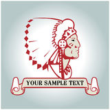 Indian banner. Vector indian banner in cartoon style Royalty Free Stock Photography