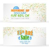 Indian banner for sale and promotion Stock Image