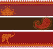 Indian banners Stock Images