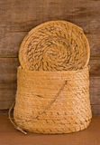 Indian basket with lid from Guatamala Royalty Free Stock Photo