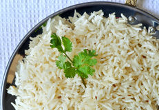 Indian Basmati Rice. Plate full of Indian Basmati Rice Royalty Free Stock Photo