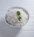 Indian basmati rice, pakistani basmati rice, asian basmati rice, cooked basmati rice, cooked white rice, cooked plain rice in roun Stock Images