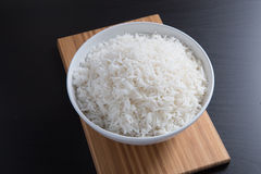 Indian basmati rice, pakistani basmati rice, asian basmati rice, cooked basmati rice, cooked white rice, cooked plain rice in roun Royalty Free Stock Photos