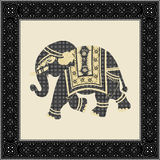 Indian batik style elephant Stock Photography
