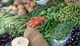 Indian Bazaar. Vegetables for sale Stock Photography