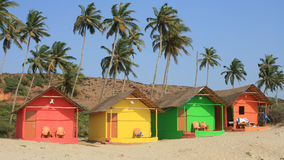 Indian beach houses Stock Photos